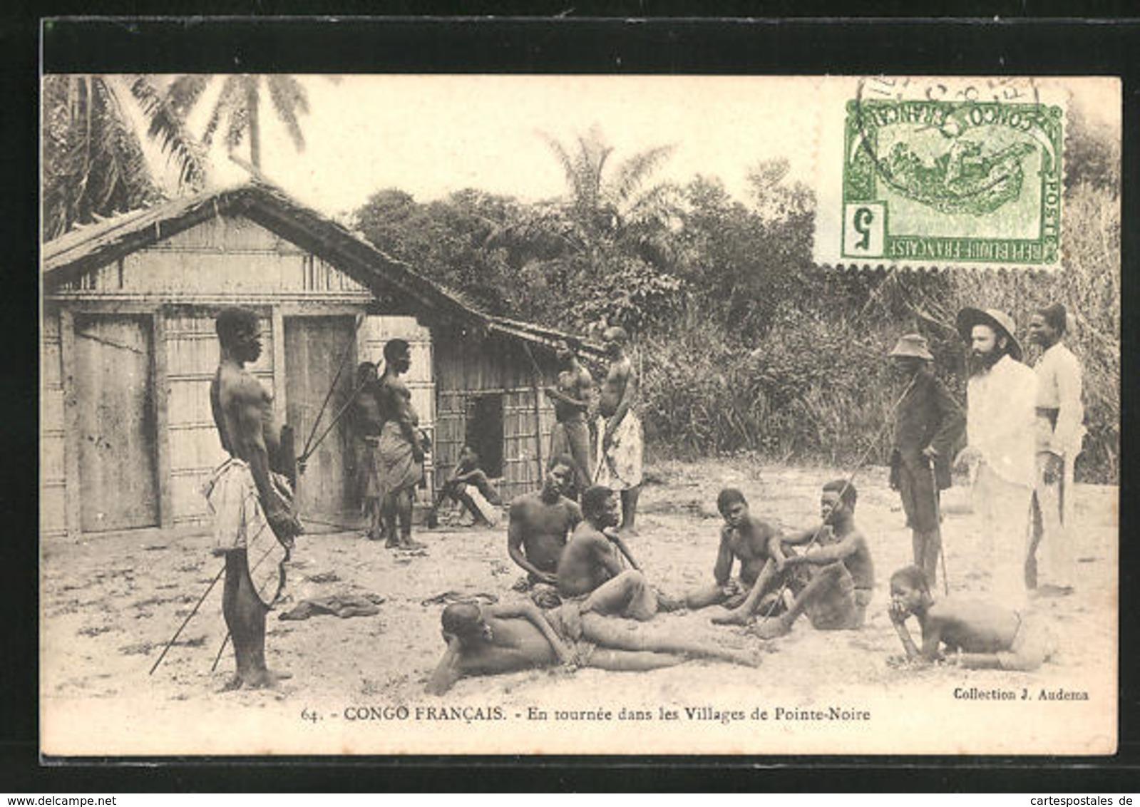 CPA Congo Francais-Pointe-Noire, En Tournee Dans Les Villages - Ethniques & Cultures