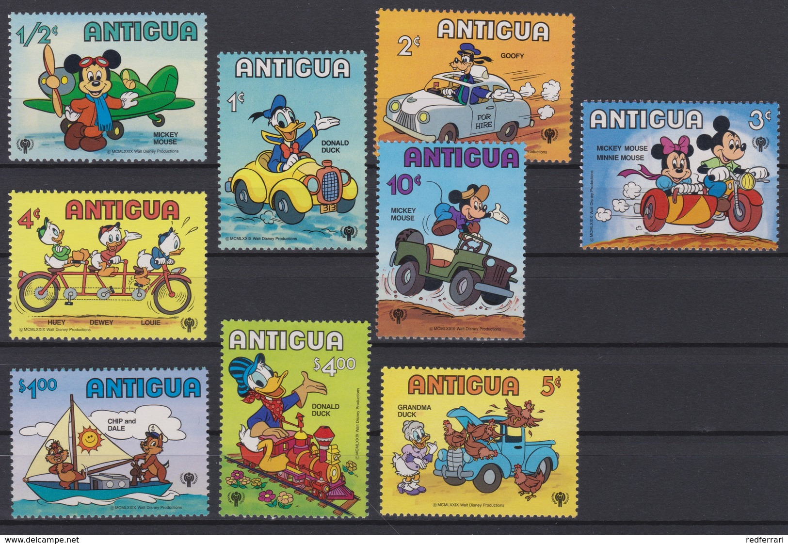 2427 - Walt Disney  Antigua  - 1980 - International Year Of The Child . - Disney