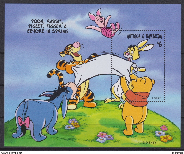 2432  Walt Disney  Antigua & Barbuda  1998 - Winnie The Pooh And Friends Over The Seasons . - Disney