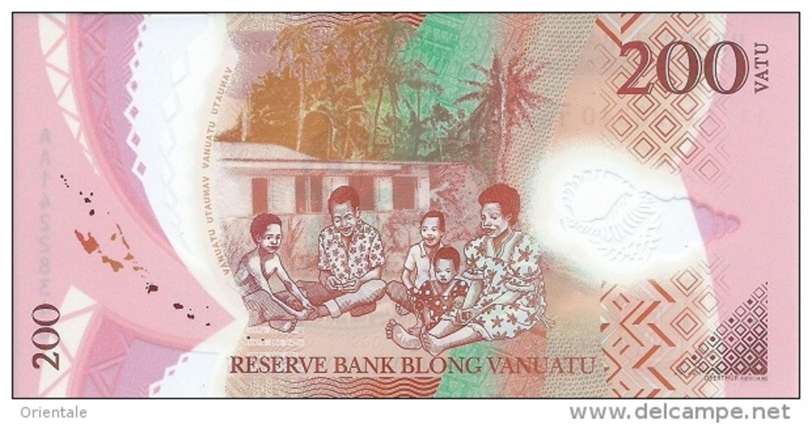 VANUATU P. 12 200 V 2014 UNC - Vanuatu