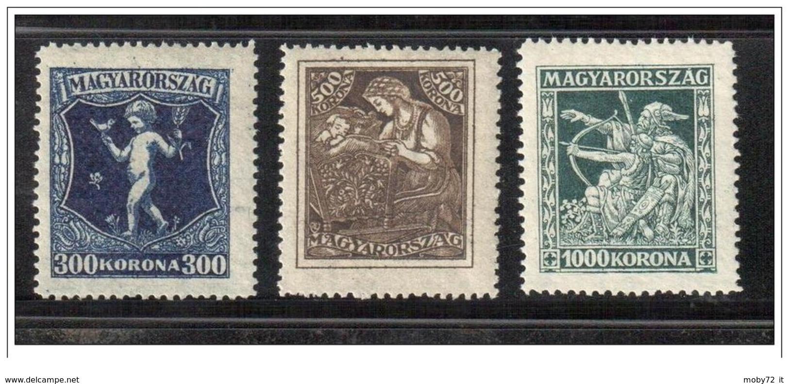 Ungheria - 1924 - Nuovo/new MH - Tubercolosi - Mi N. 380/82 - Unused Stamps