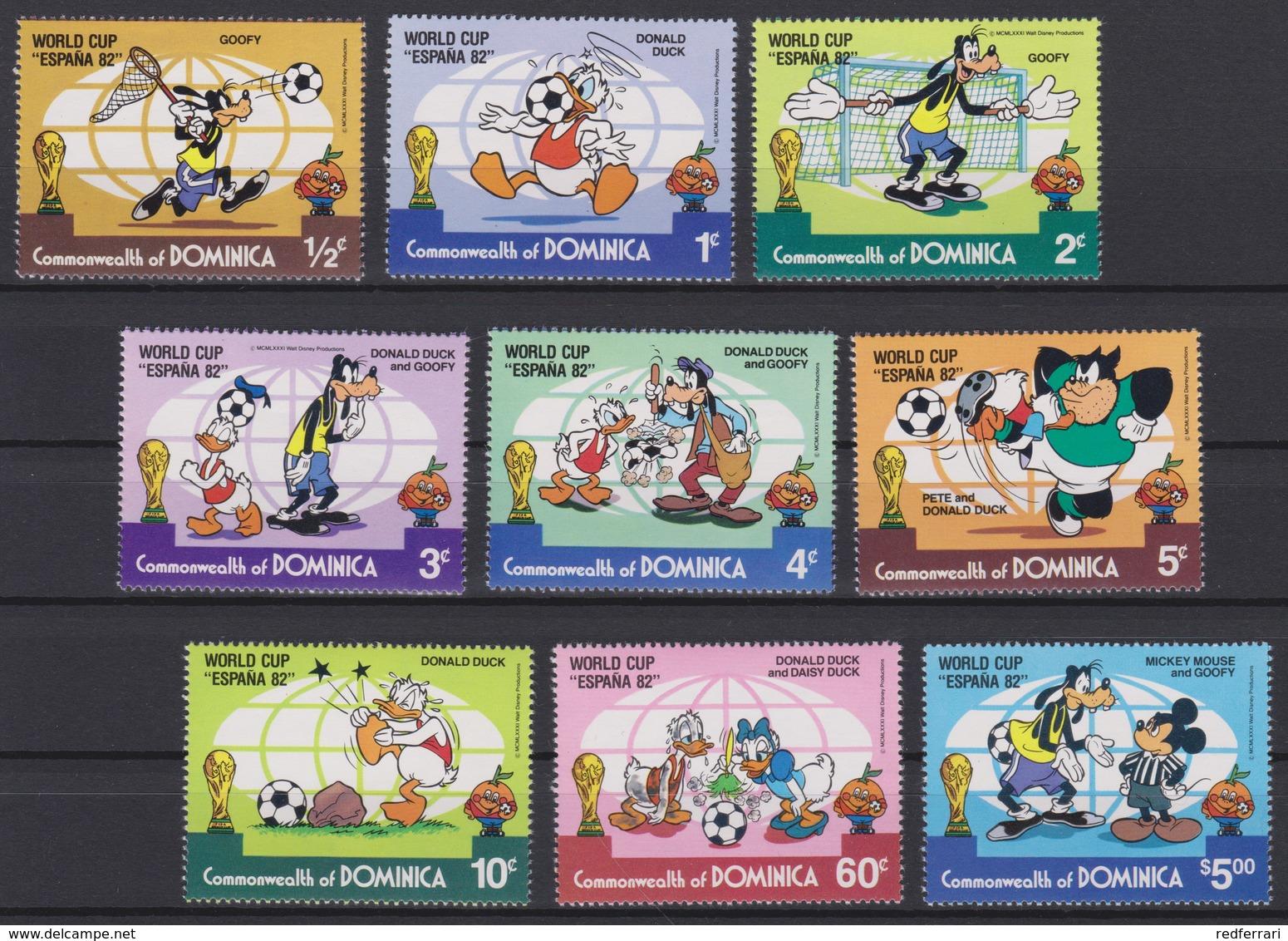 "2437  Walt Disney   Commonwealth Of Dominica   1982 ( World Cup ""Espana 82 ) . - Disney"