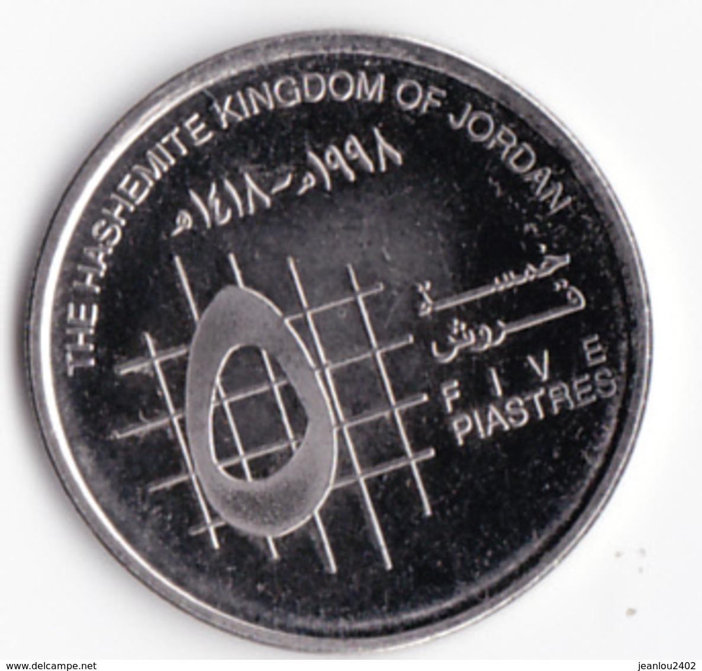 5 PIASTRES - HUSSEIN - Jordanie