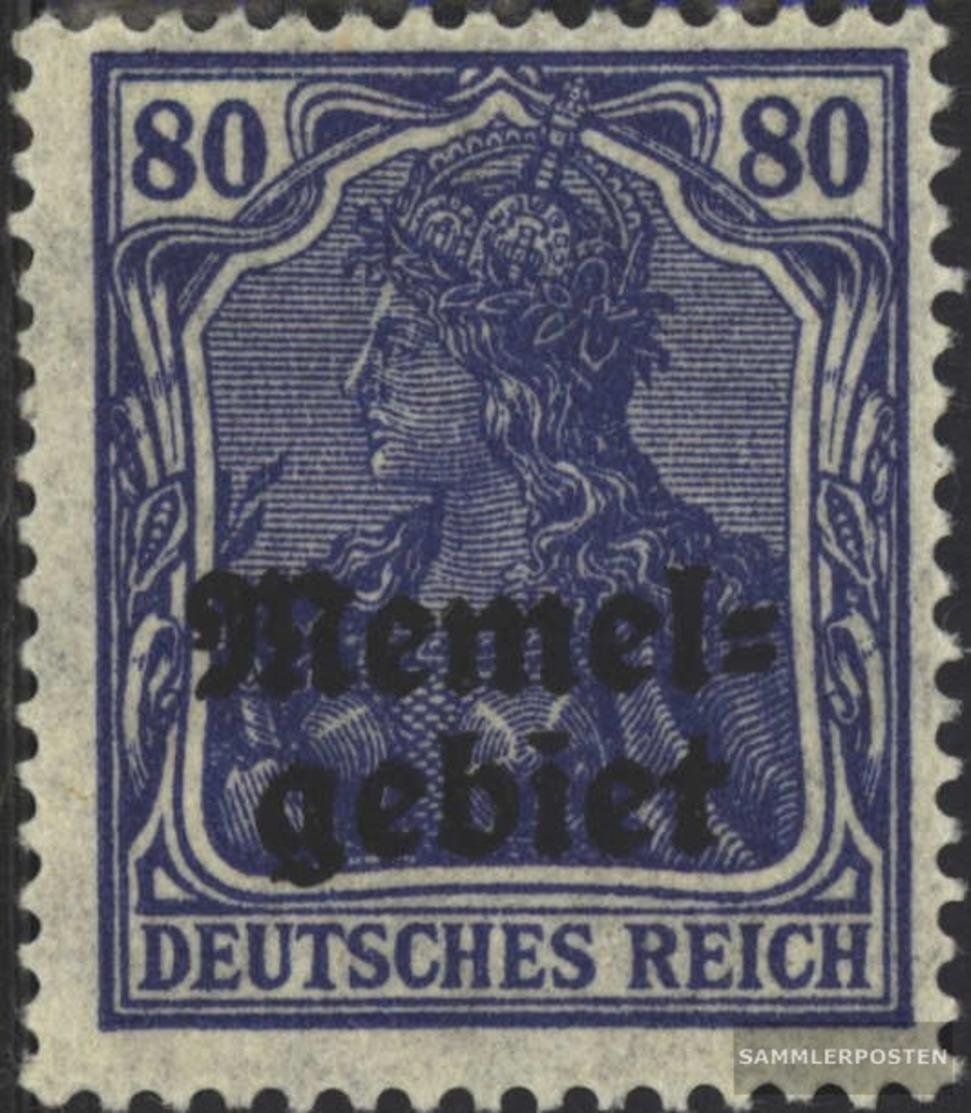 Memelgebiet 17 Con Fold 1920 Germania-Stampa - Memel