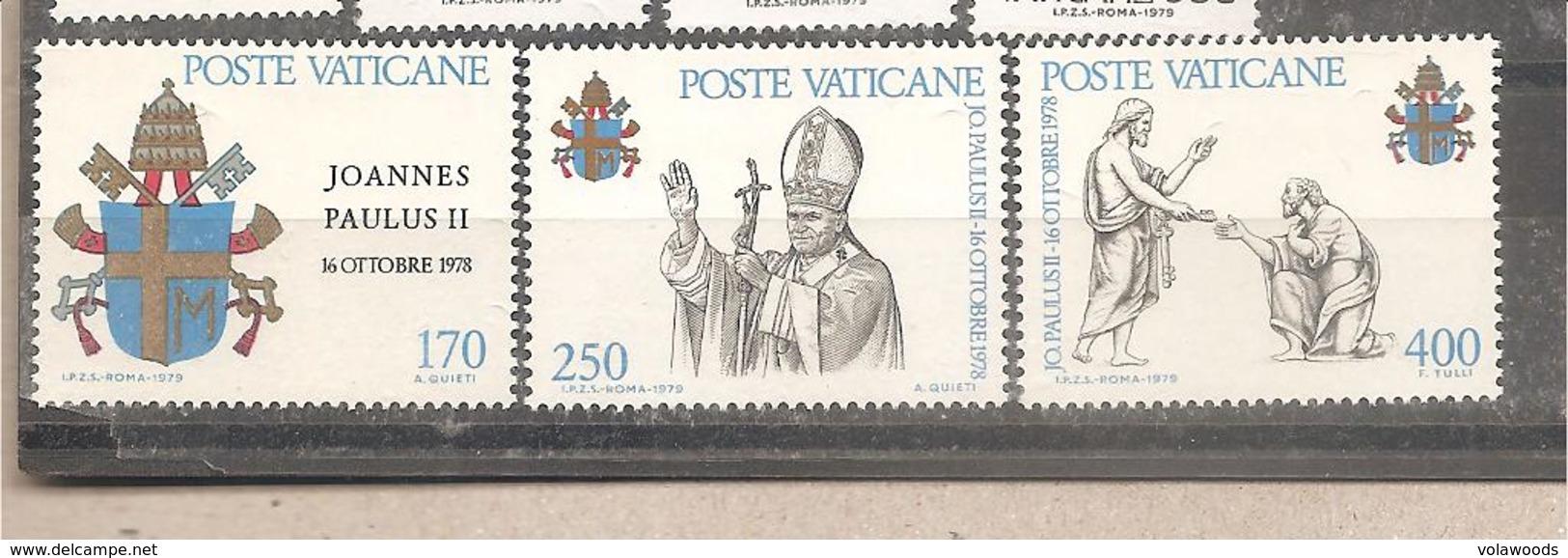Vaticano - Serie Completa Nuova: Inizio Del Pontificato Di Giovanni Paolo II - 1979 * G - Vatican