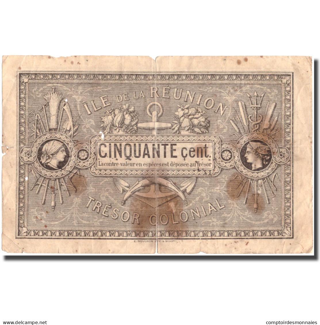 Billet, Réunion, 50 Centimes, 1879, 1879-05-02, TB - Réunion