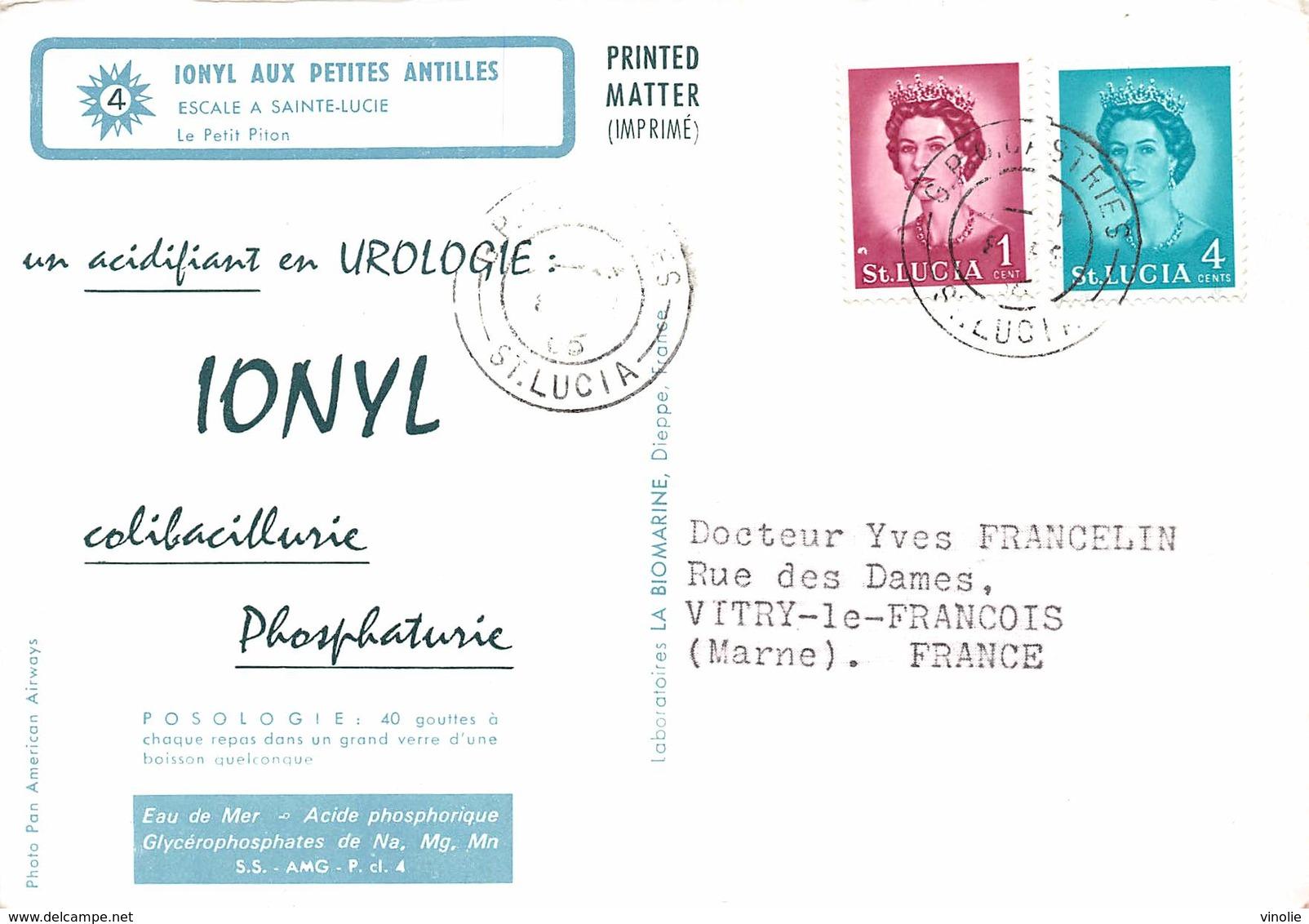 PIE-Arg-18-6838 : ESCALE A SAINTE-LUCIE. LE PETIT PITON. - Sainte-Lucie