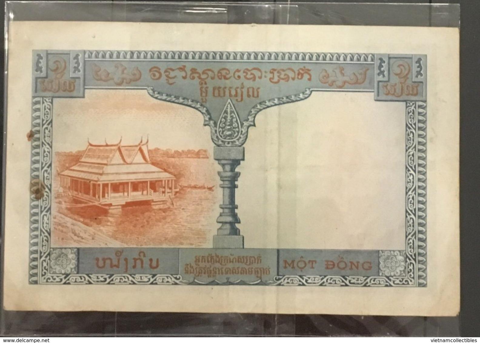 Indochine Indochina Vietnam Viet Nam Laos Cambodia 1 Piastre VF Banknote 1953-1954 - P#94 / 02 Images - Vietnam