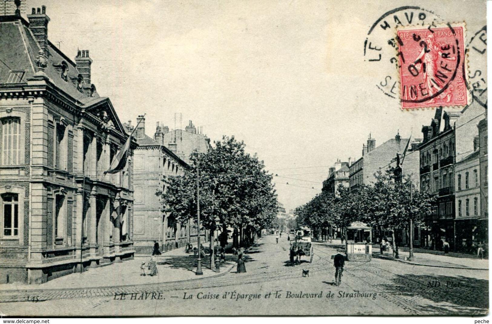 N°66321 -cpa Le Havre -la Caisse D'Epargne- - Banques