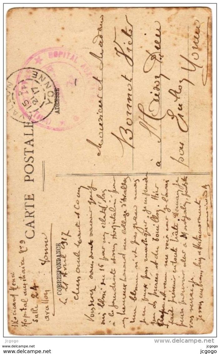 L'ISLE-sur-SEREIN - Centenaire De Mme Marie-Madeleine Breuillard. Née Le 6 Mars 1814 à CIVRY. Carte écrite En 1917 - L'Isle Sur Serein