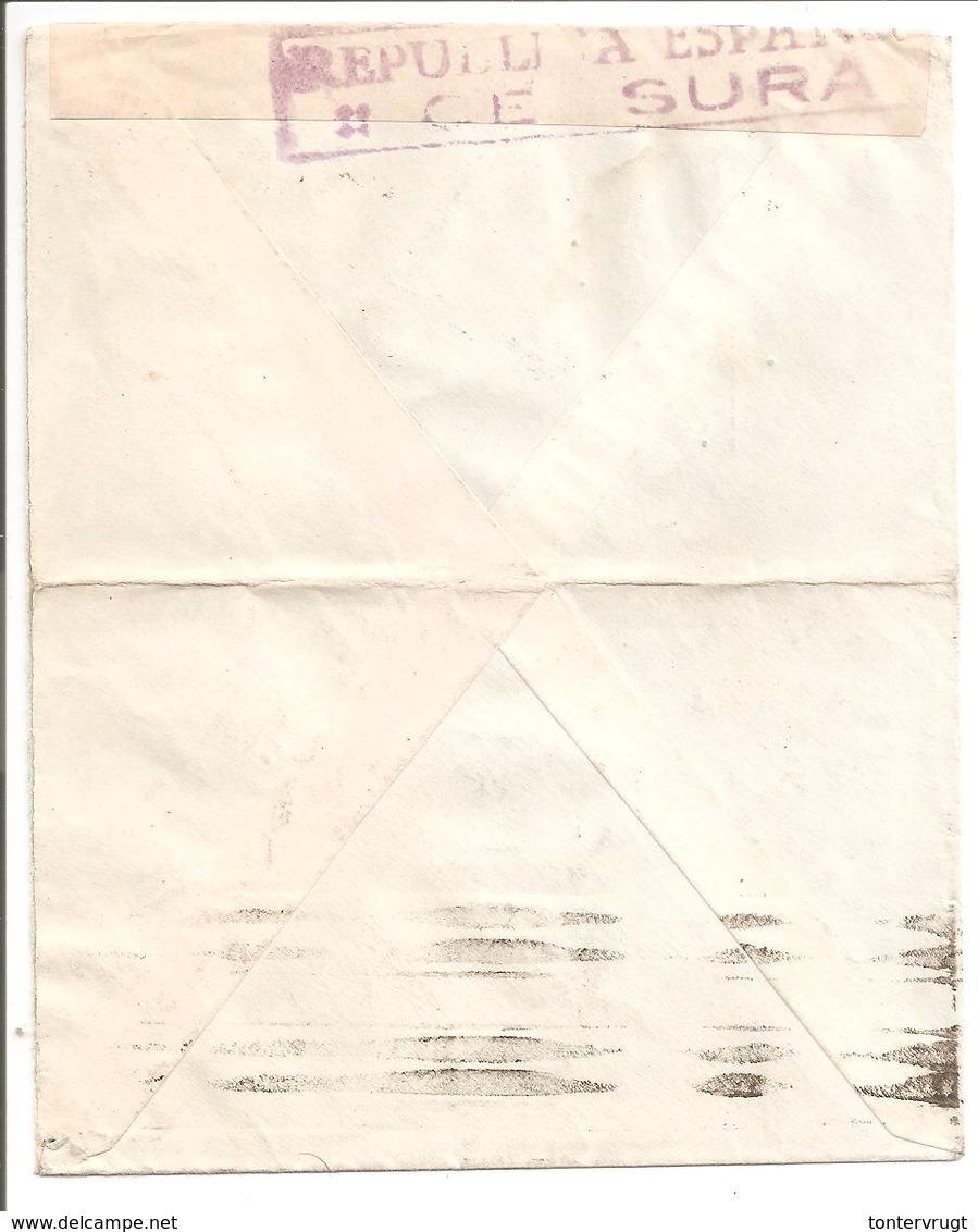 Sensura.Censure.Censor.Zensur. Mallorca. Baleares. Lettre Publicité Parfumeria - Marcas De Censura Nacional