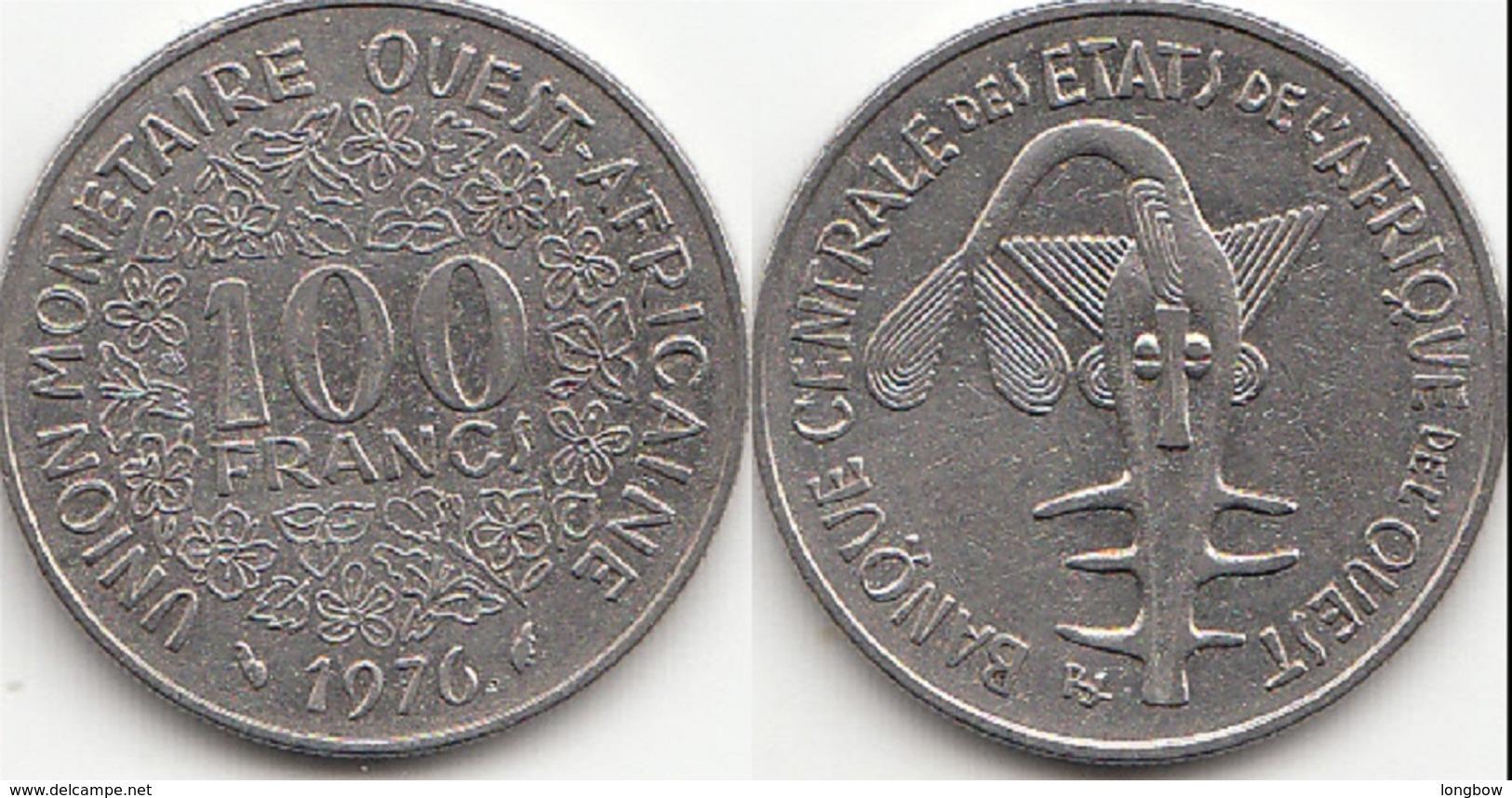 Repubblica Centro Africana 100 CAF Francs 1976 KM#4 - Used - Afrique Orientale & Protectorat D'Ouganda