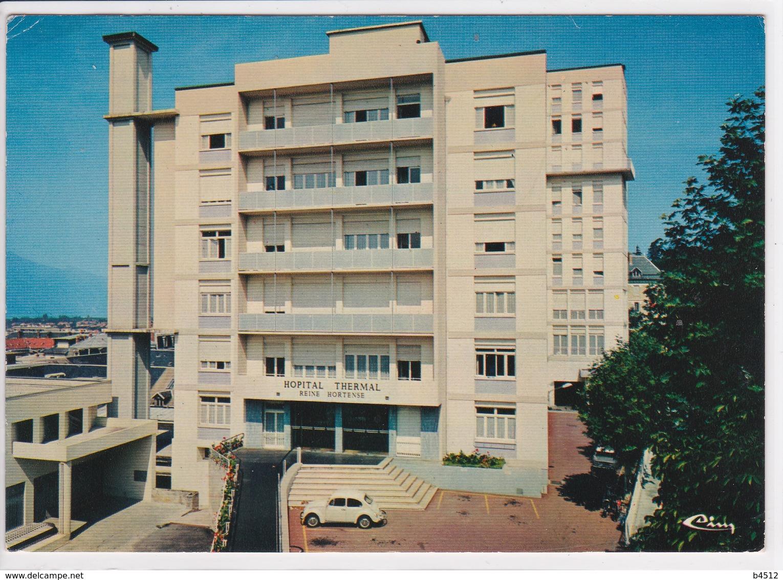 73 AIX Les BAINS Hôpital Thermal ,voiture Ancienne Année 50 ,Fiat 500 - Aix Les Bains