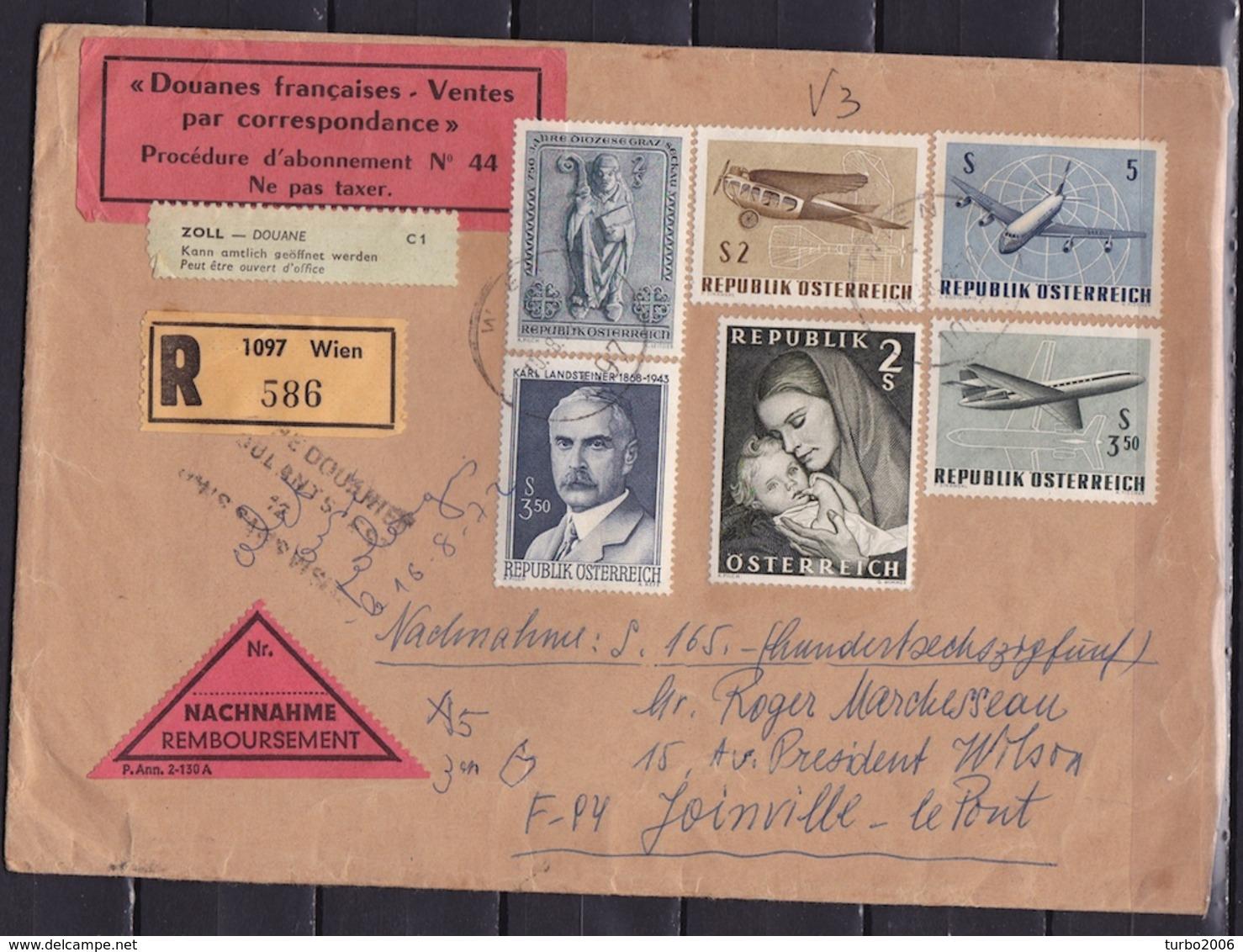 "DOUANE 1972 Nachnahme-cover From Austria With Custom Labels ""Douanes Franceises-Ventes Par Correspondence"" + C 1 - Andere"