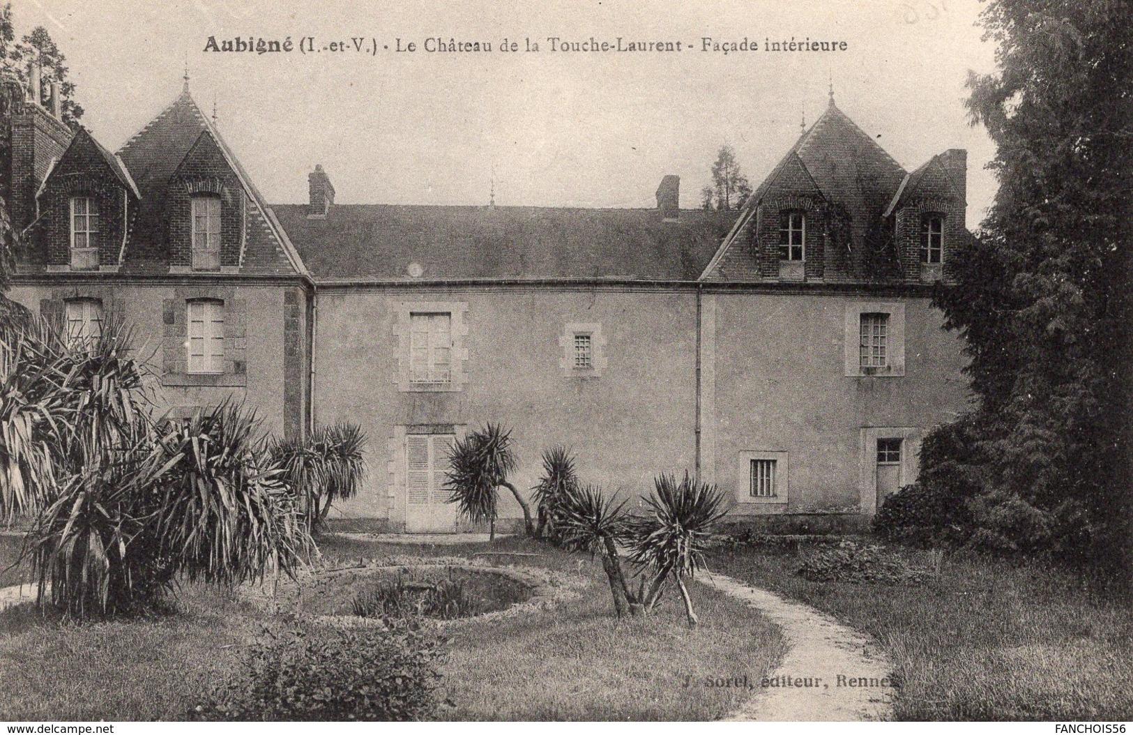 Aubigné (35) - Château De La Touche - Laurent, Façade Intérieure - Autres Communes