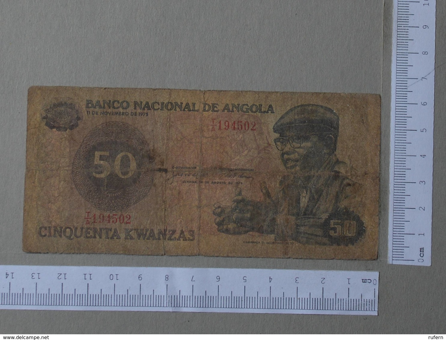 ANGOLA 50 KWANZAS 1975 -    2 SCANS  - (Nº26473) - Angola