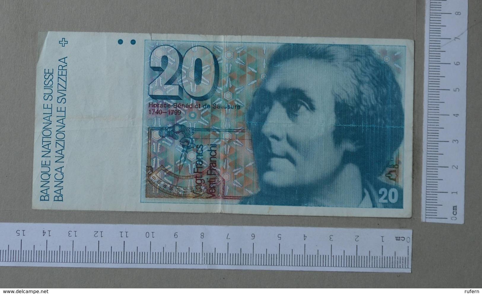 SWITZERLAND 20 FRANCS 1987 -    2 SCANS  - (Nº26485) - Suisse