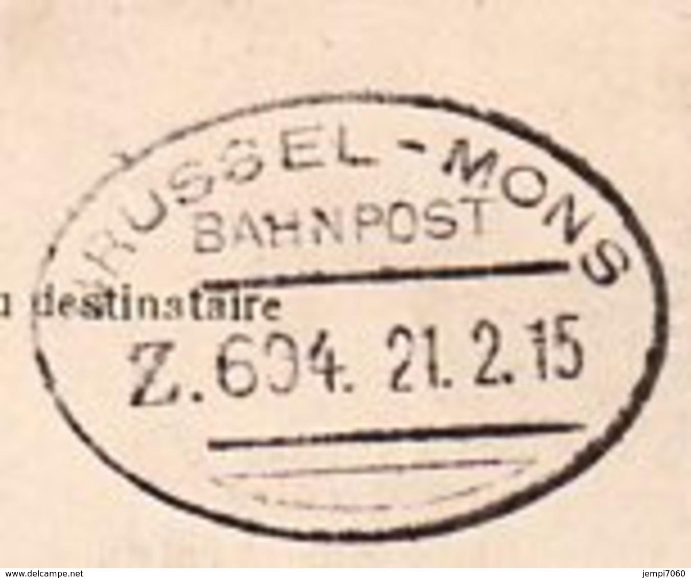 Deux Cartes Postales Anciennes Envoyées Par Un Soldat Allemand En 1915 / Oblitération Bahnhof Et Bahnpost - Documents