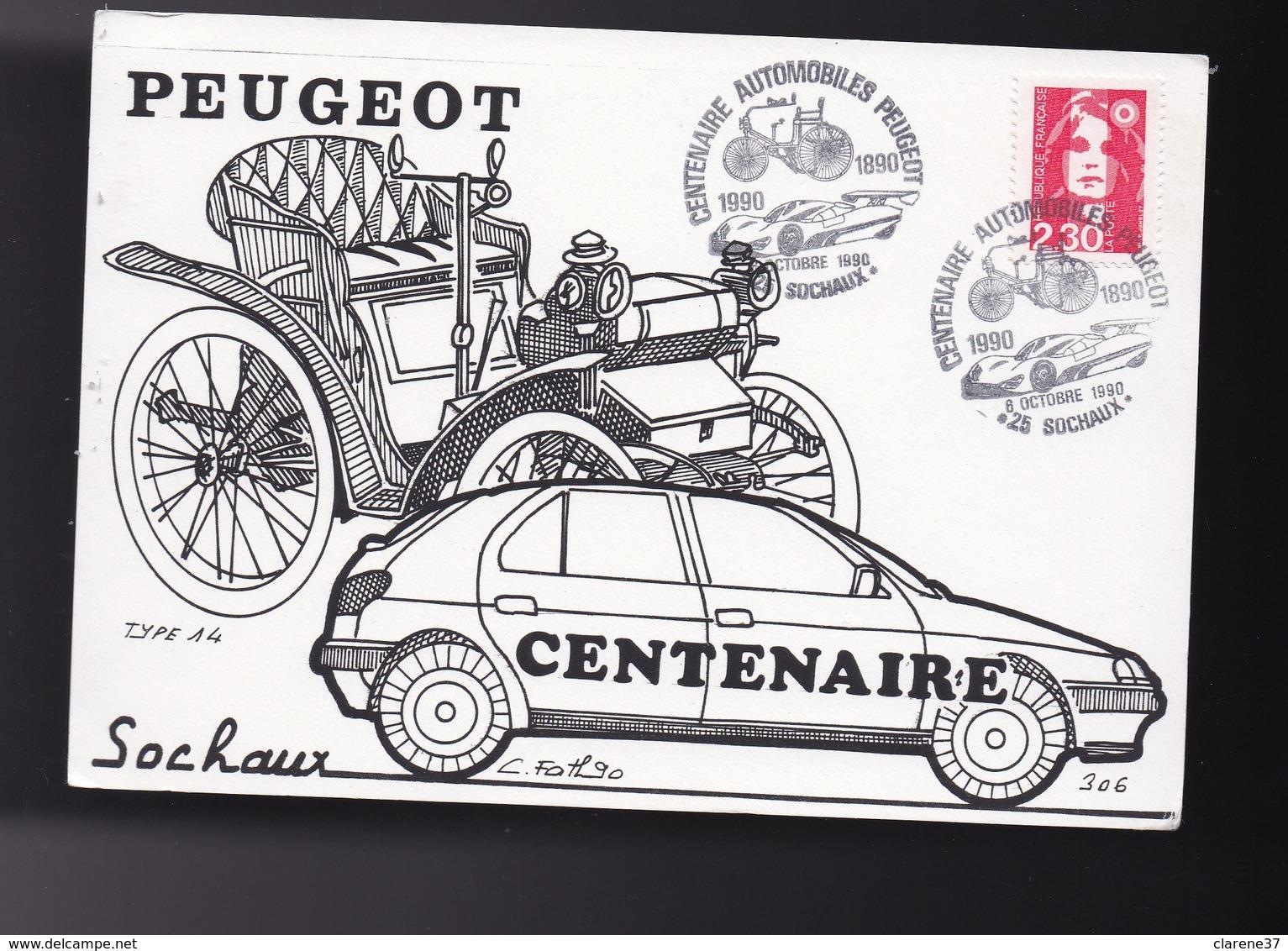 Carte  Centenaire Automobile PEUGEOT - Cartes Postales