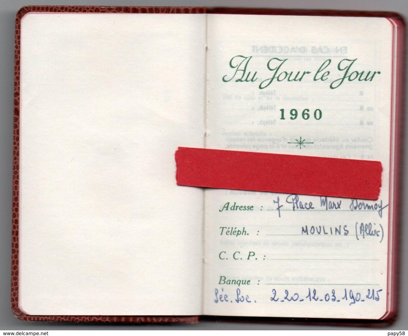 Calendriers > Petit Format : 1941-60 Agenda Au Jour Le Jour 1960 - Calendriers