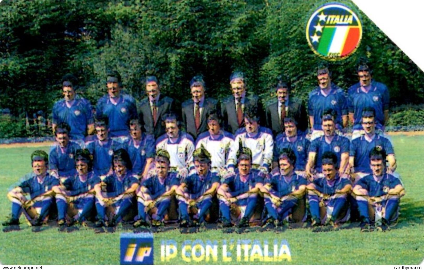 *ITALIA - SIP: ITALIA '90 - IP CON L'ITALIA* - Scheda Usata (NON CLASSIFICATA) - Italie