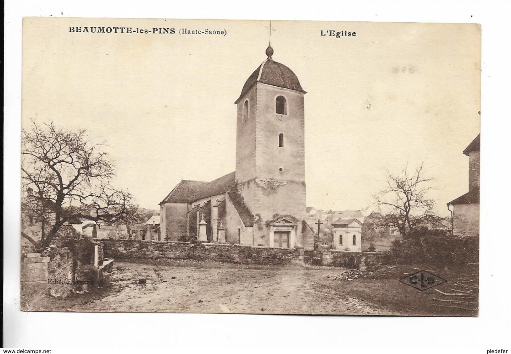 70 - RARE Cliché - BEAUMOTTE-les-PINS - L' Eglise - Francia