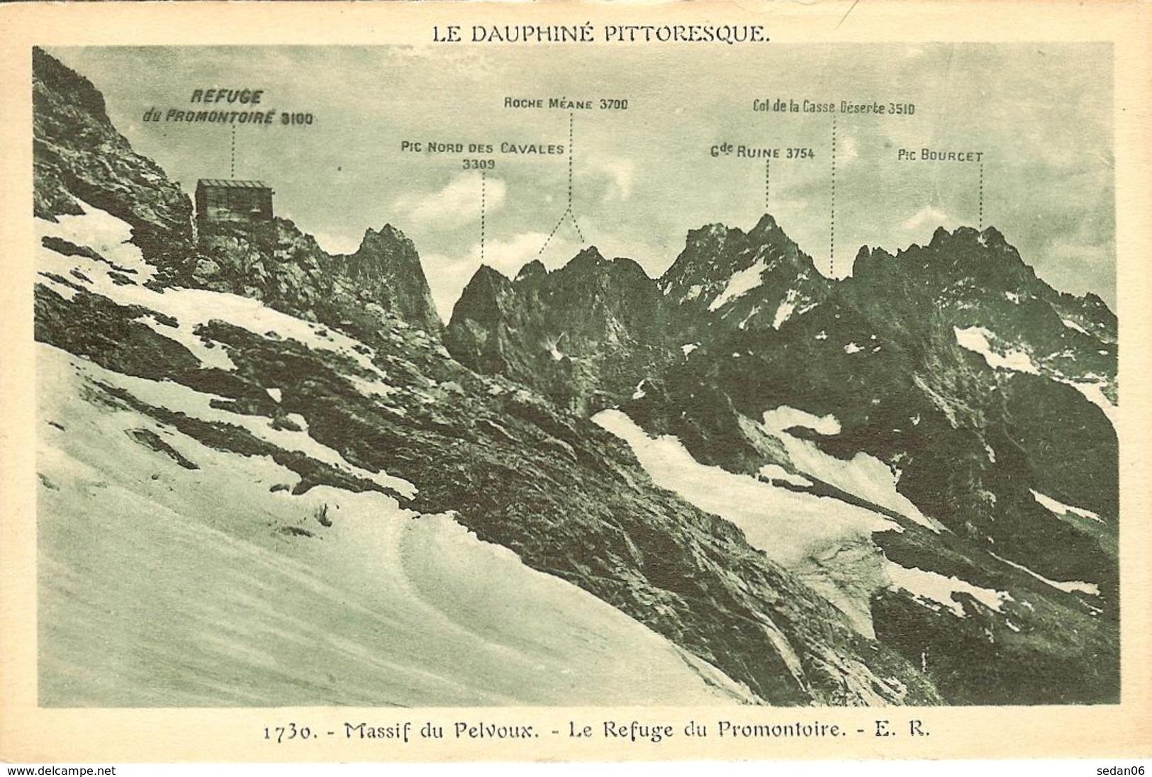 CPA - HAUTES-ALPES - Massif Du Pelvoux, Le Refuge Du Promontoire - Other Municipalities
