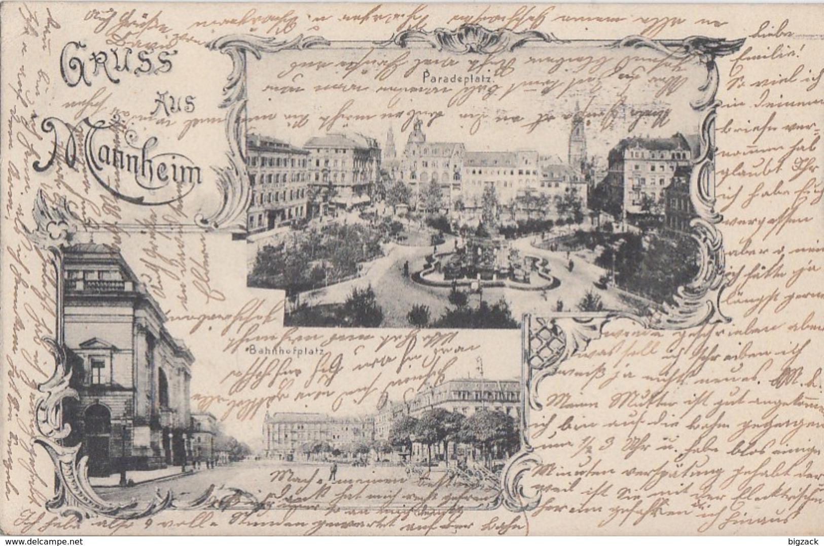 DR AK Gruss Aus Mannheim EF Minr.70 Flaggenstempel Mannheim 3.2.04 Gel. Nach Oberkochen - Deutschland