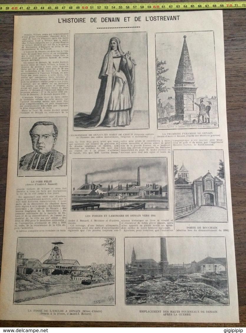 ANNEES 20/30 HISTOIRE DE DENAIN ET DE L OSTREVAN FORGE LAMINOIR PORTE DE BOUCHAIN - Collections