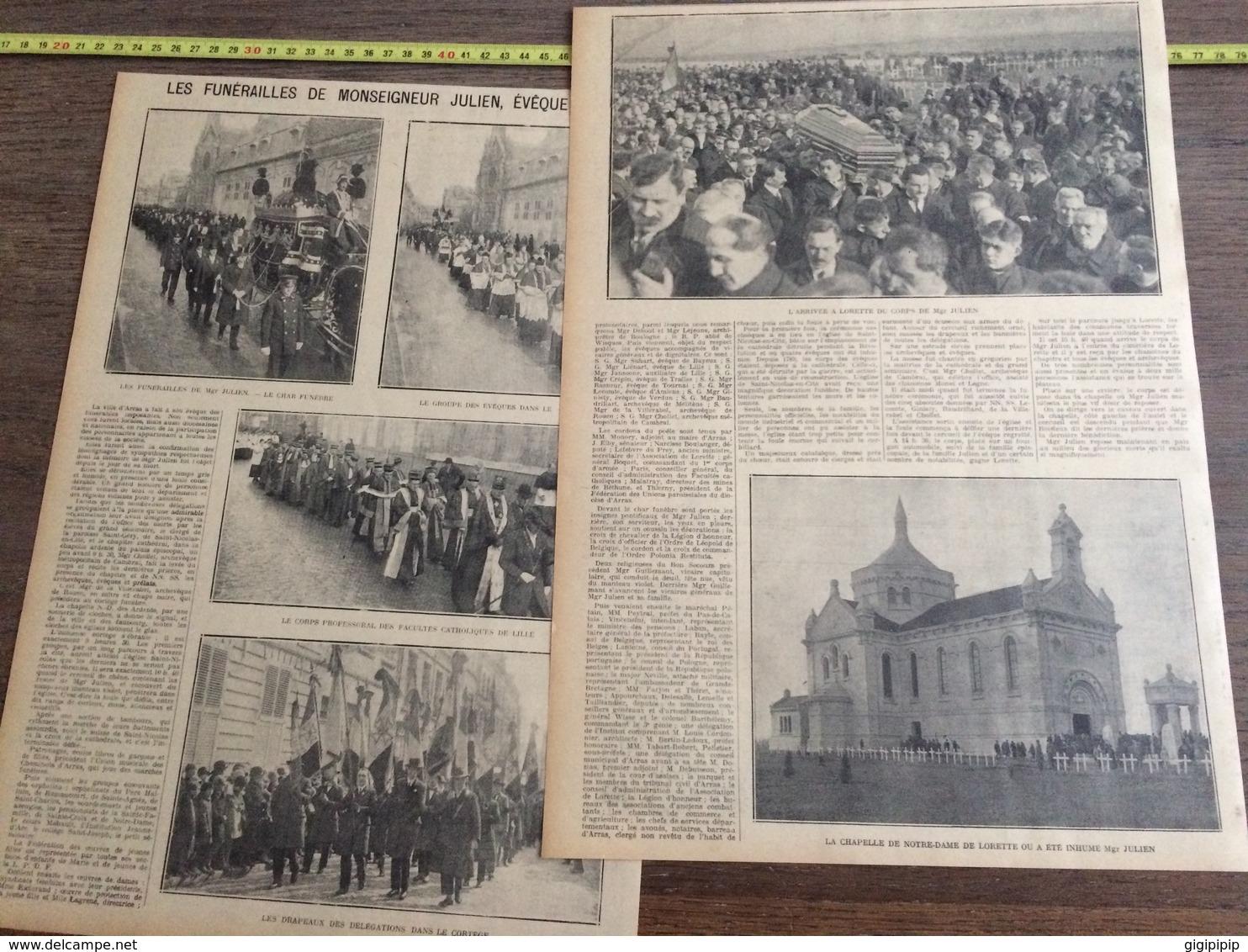 ANNEES 20/30 LES FUNERAILLES DE MONSEIGNEUR JULIEN EVEQUE D ARRAS - Collections