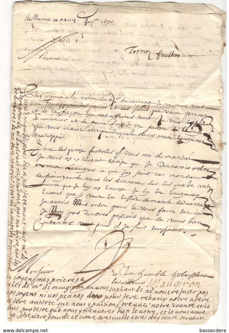 9857 - De VIENNE  1670 - Marcophilie (Lettres)
