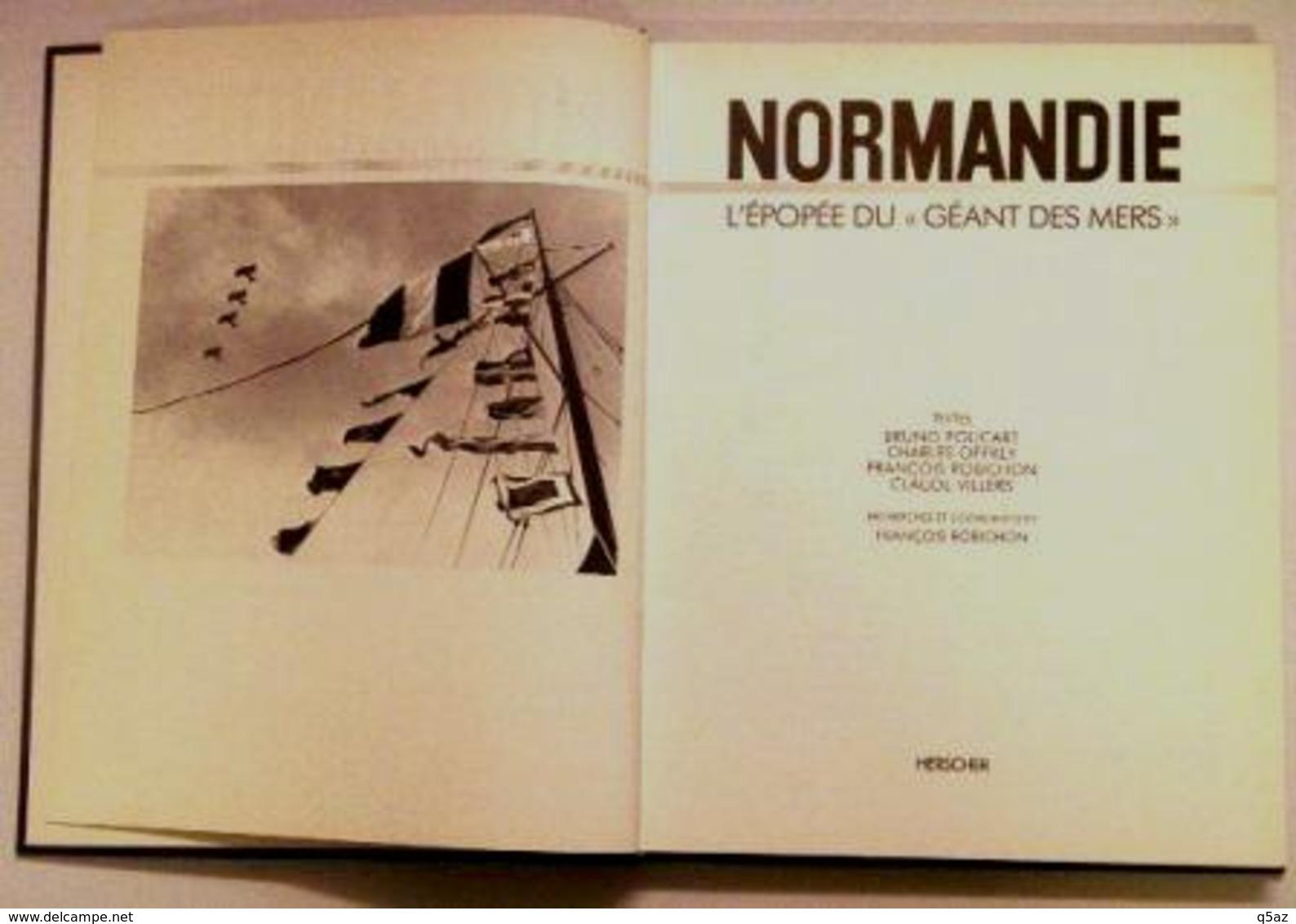 El1.q- Paquebot NORMANDIE Liner Livre 1985 CG.Transatlantique French Line St Nazaire - Sciences & Technique