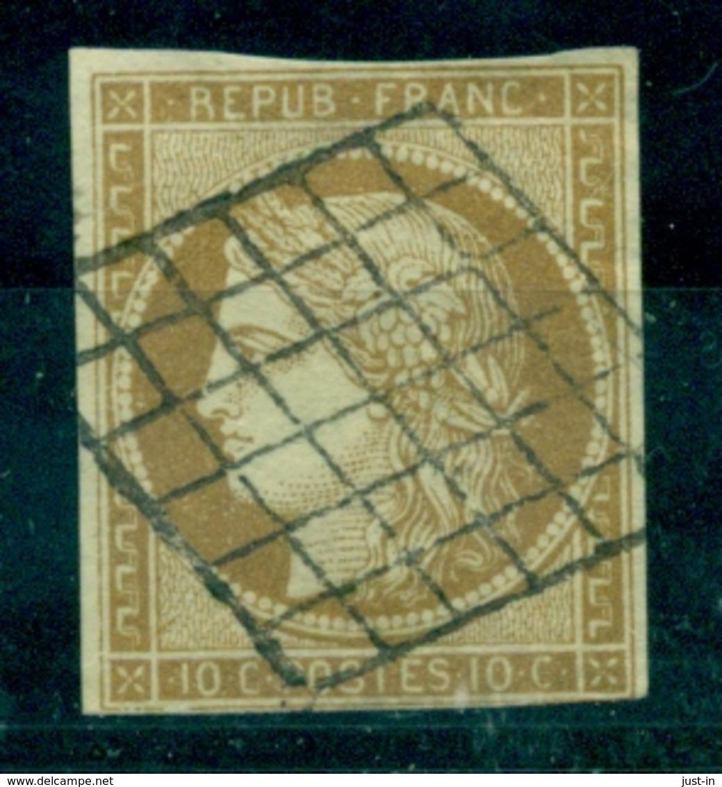 FRANCE N° 1 Céres Oblitéré Grille Nette Et Légère . Bien Cote : 350 €. - 1849-1850 Ceres