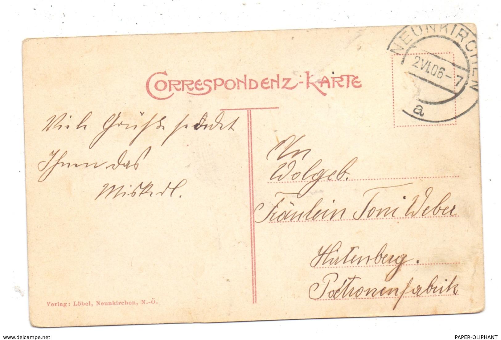 A 2620 NEUNKIRCHEN, Totalansicht, 1906, Kl. Druckstelle - Neunkirchen
