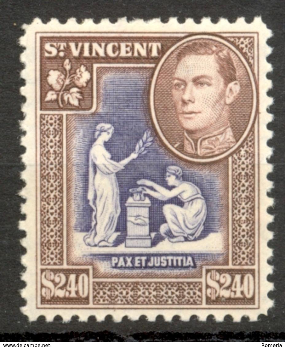 Saint Vincent - 1949 - Yt 152 - Séie Courante - * Charnière - St.Vincent (...-1979)