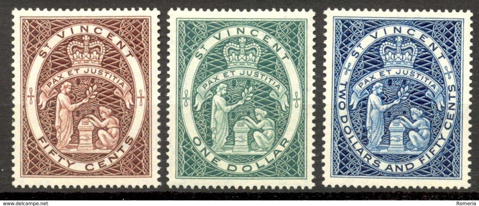 Saint Vincent - 1955 - Yt 179/181 - Série Courante - * Charnière - St.Vincent (...-1979)