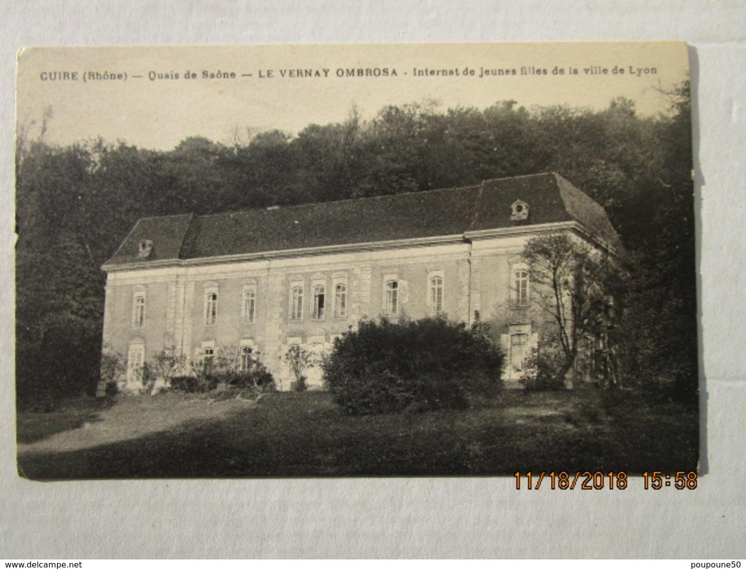 CPA 69 CALUIRE Et CUIRE - Quais De Saône - LE VERNAY OMBROSA - Internat école De Jeunes Filles De La Ville De LYON - Caluire Et Cuire