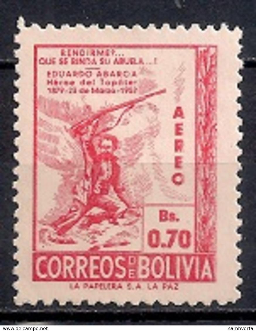 Bolivia 1952 - Airmail - The 73rd Anniversary Of The Death Of Abaroa, Patriot - Bolivia