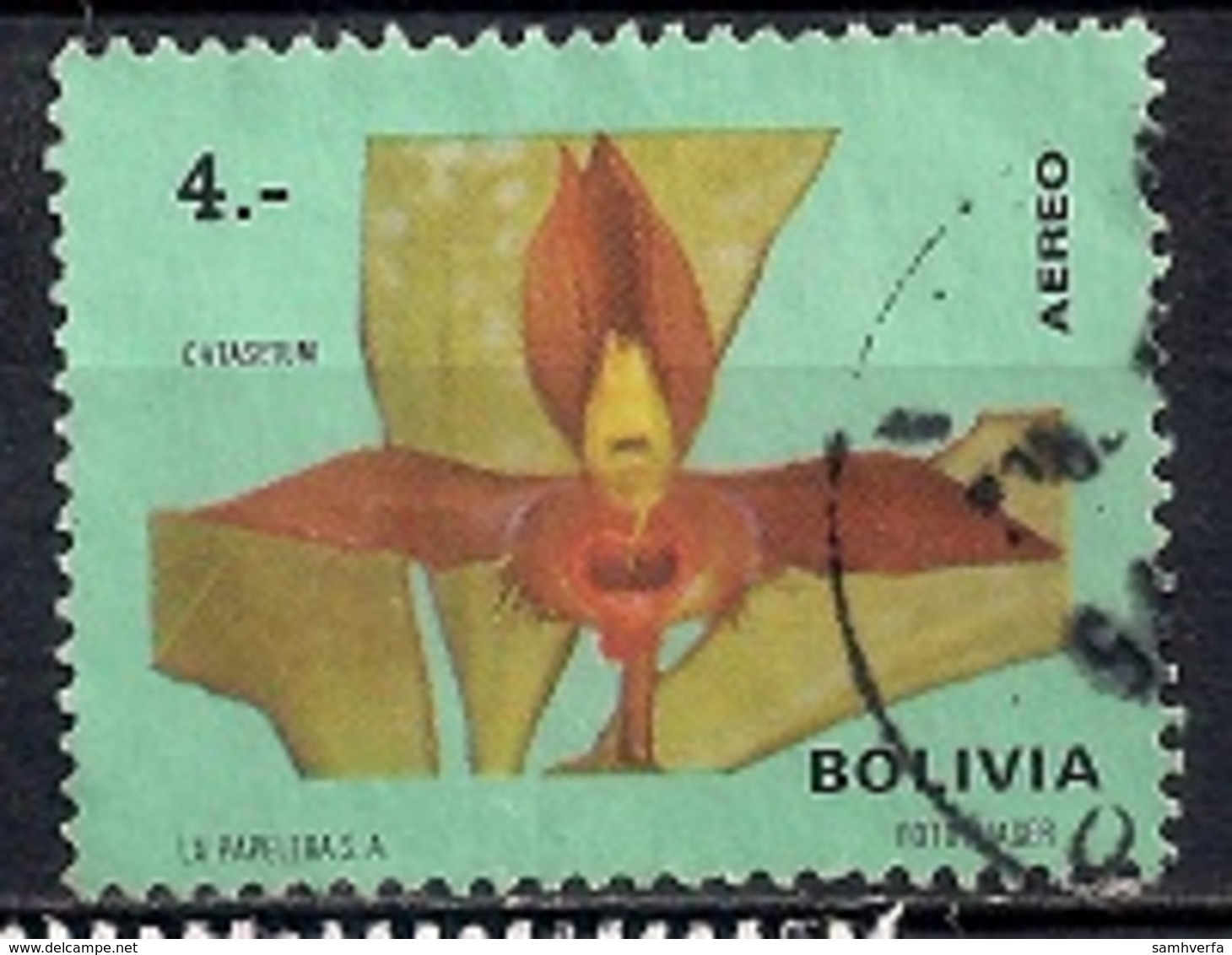 Bolivia 1974 - Airmail - Orchids - Bolivia
