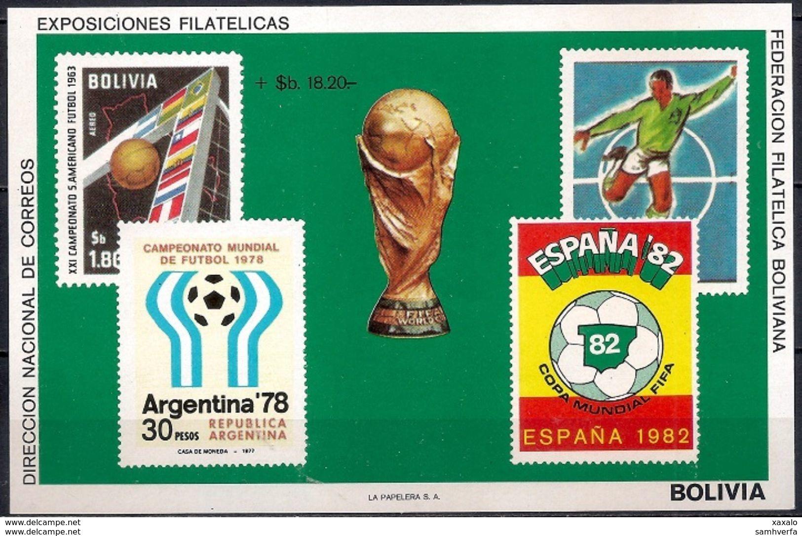 Football World Cup - Soccer - Sport - Block Bolivia 1979 (Cat +40 €) MINT - Bolivia