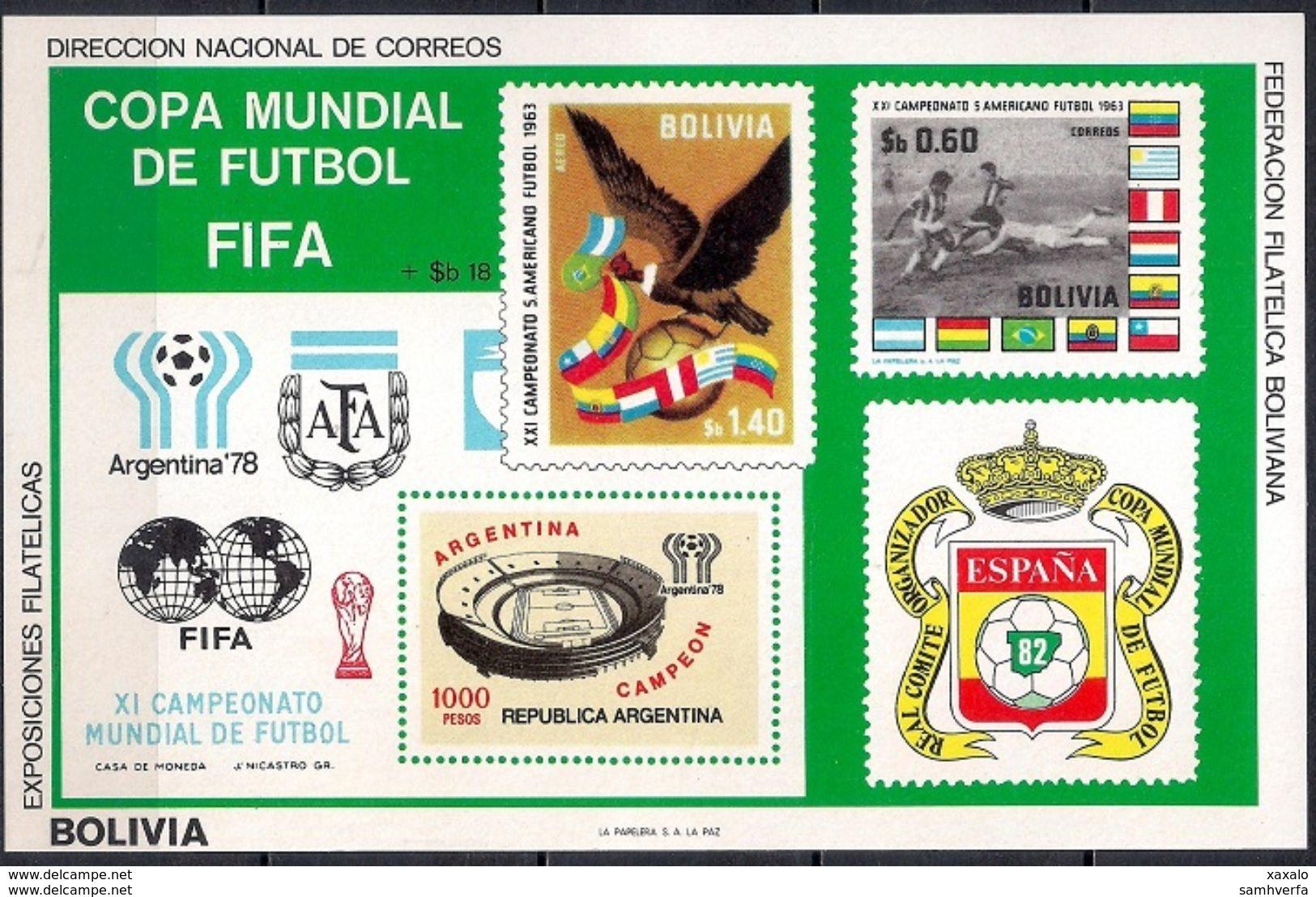 Football World Cup - Soccer - Sport - Block Bolivia 1980 (Cat +40 €) MINT - Bolivia