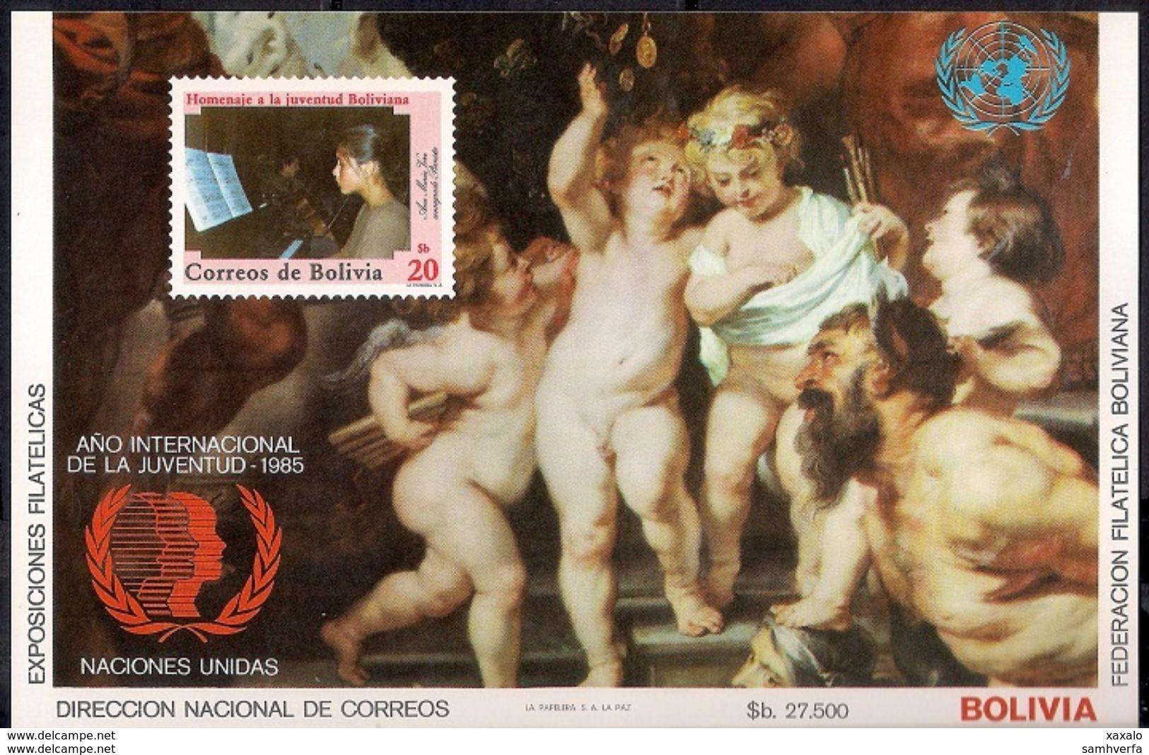 Rubens - Painting - Art - Bolivia 1985 - MINT Sheet (Cat. +50€) - Bolivia