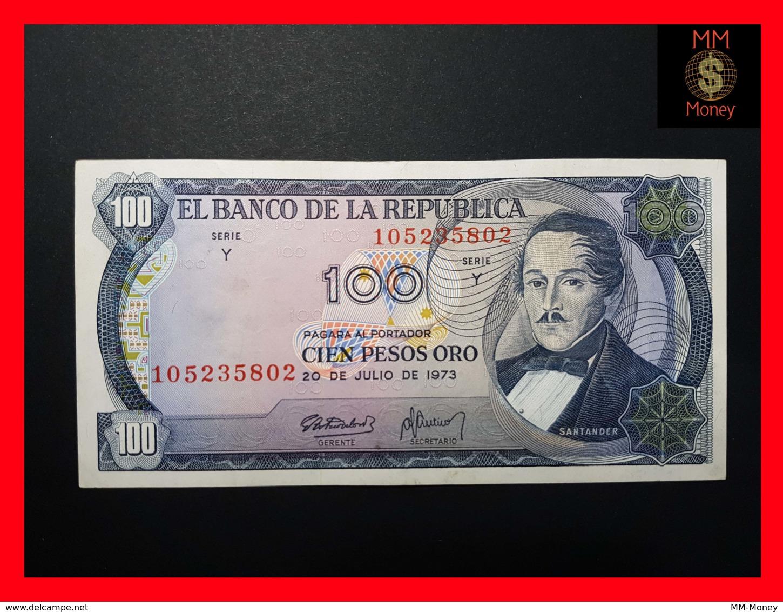 COLOMBIA 100 Pesos Oro 20.7.1973  P. 415  VF+ - Colombie