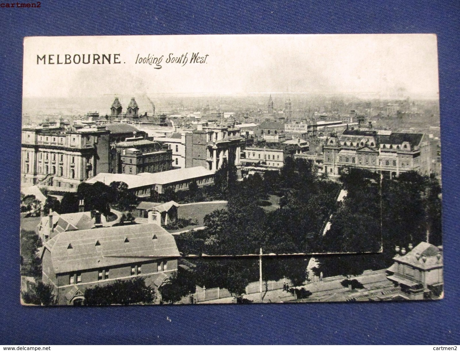 CARTE A SYSTEME : MELBOURNE LOOKING SOUTH WEST MULTIWIEW AUSTRALIA VICTORIA - Melbourne