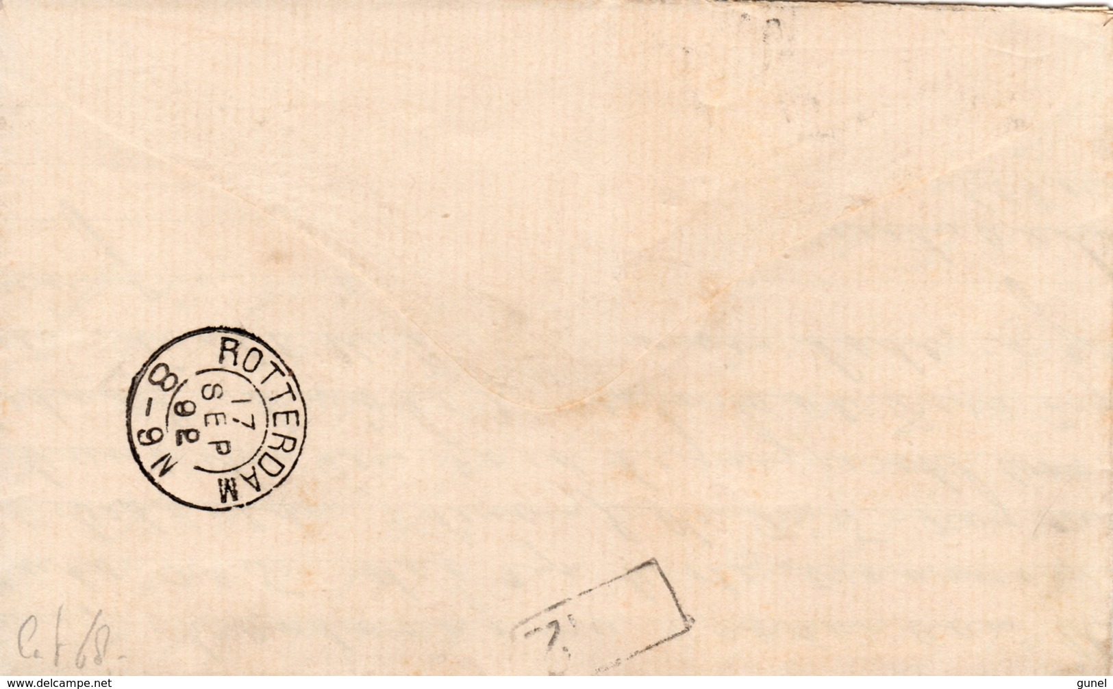 17 SEP 92 Memorandum Lokaal Te Rotterdam Met NVPH34 Met Puntstempel 91 - Periode 1891-1948 (Wilhelmina)