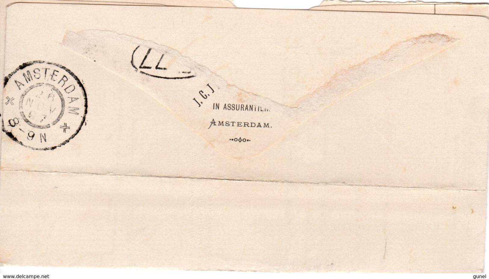 26 NOV 97   Nota  Lokaal Te Amsterdam Met NVPH34 Met Gr.rond - Brieven En Documenten