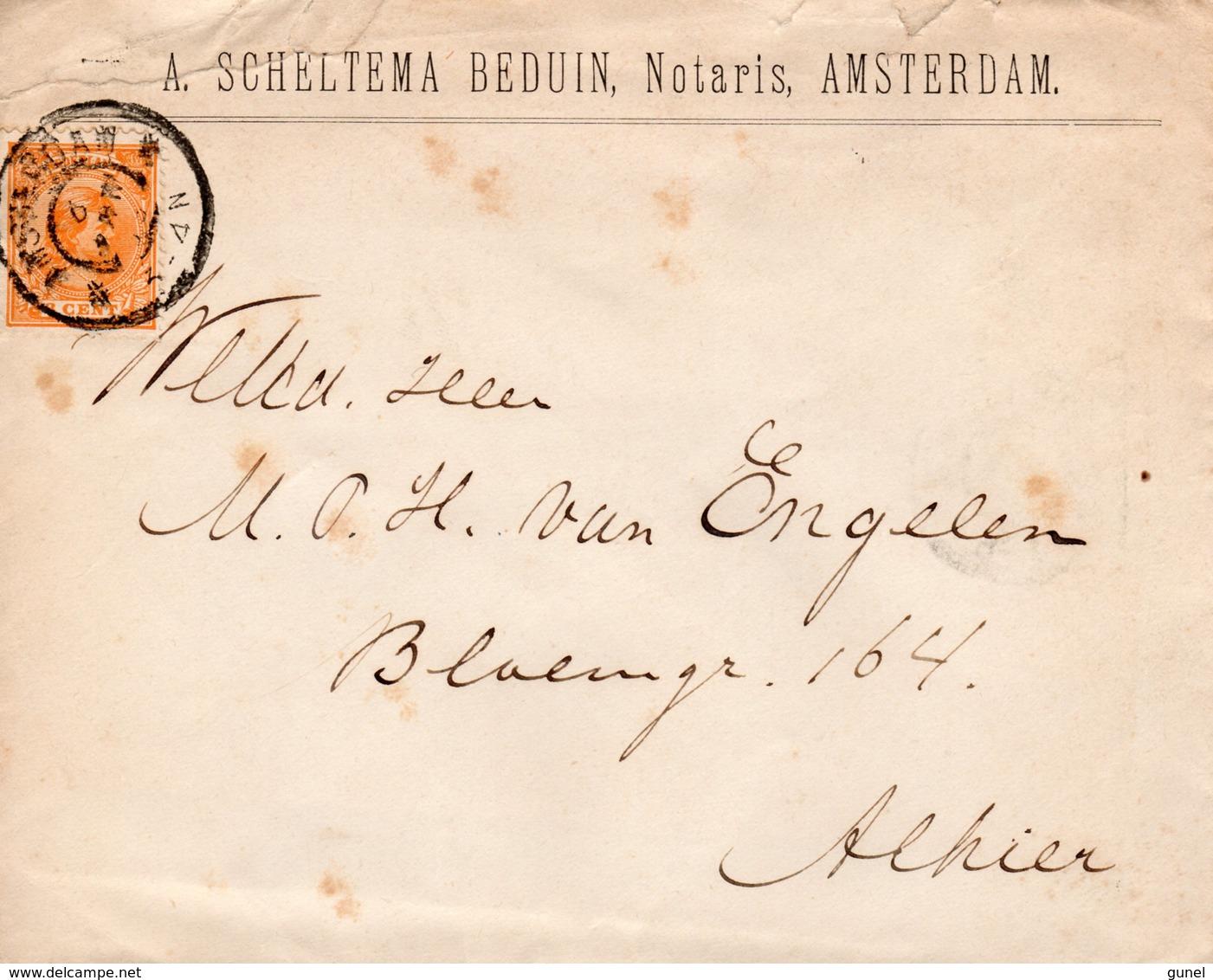 3 JAN 99     Envelop Met Firmalogo Lokaal Te Amsterdam Met NVPH34 Met Grootrond - Periode 1891-1948 (Wilhelmina)