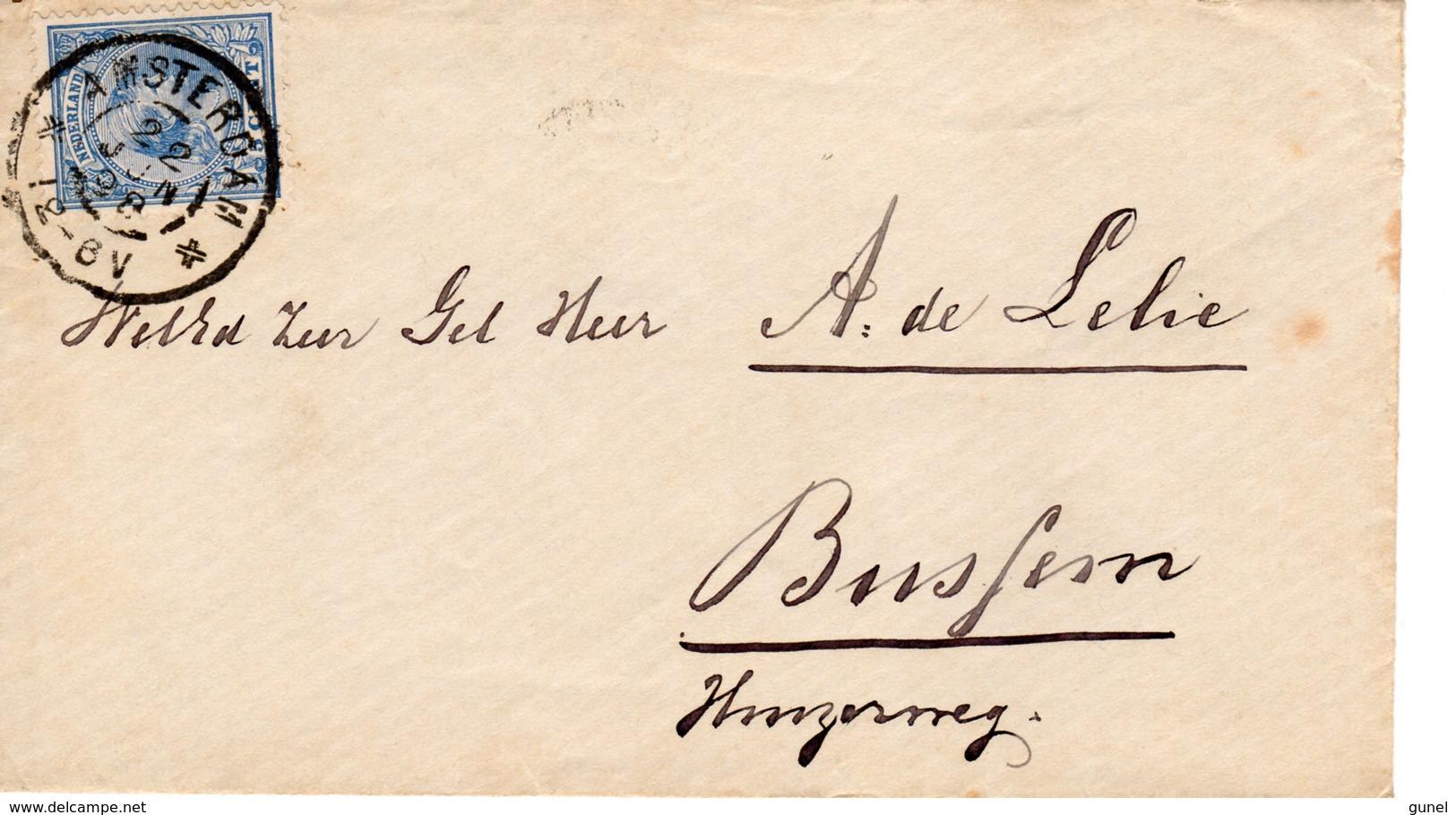 22 JUN 98     Envelop Van Amsterdam Met NVPH35 Naar Bussum Met Grootrond - Periode 1891-1948 (Wilhelmina)