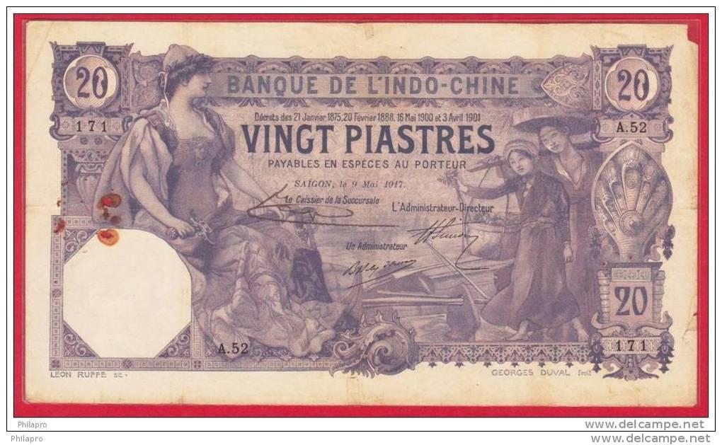 INDO CHINA : CAMBODIA  ,LAOS  VIETNAM    BANKNOTE  PICK N°38b - Indochine