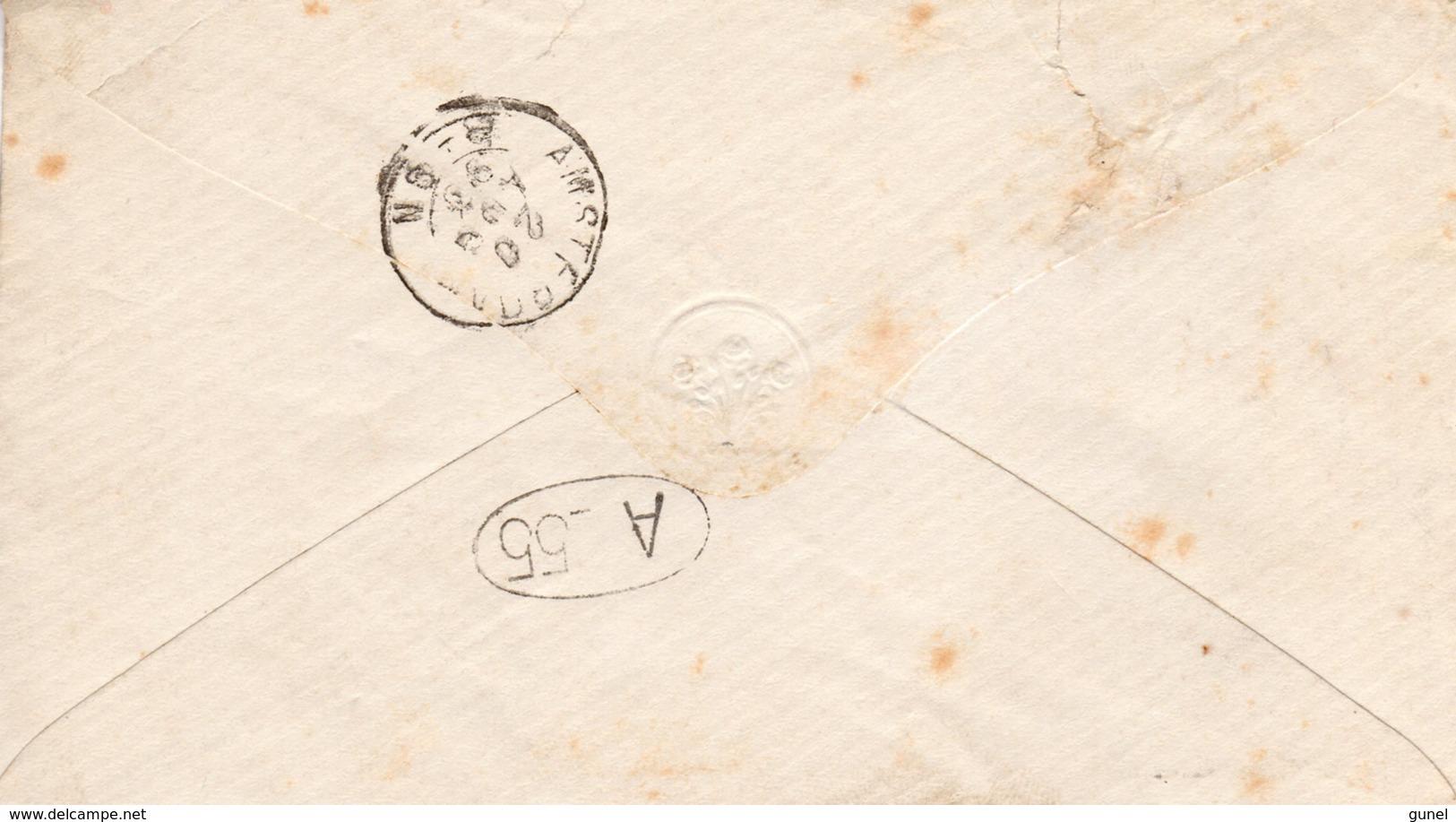 20 AUG 93 Envelopje Lokaal Te Amsterdam Met NVPH 34 Met Kl. Rond - Periode 1891-1948 (Wilhelmina)